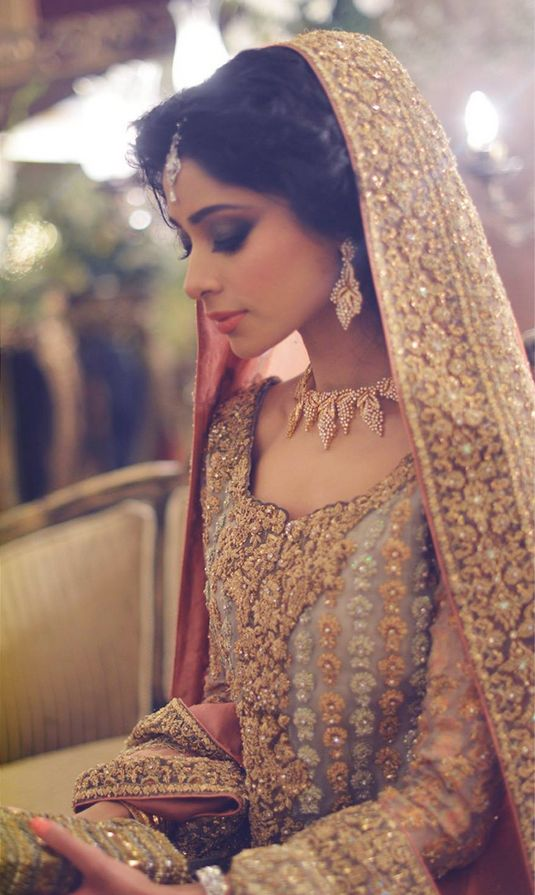 Latest Styles & Designs of Bridal Walima Dresses Collection 2015-2016 (5)