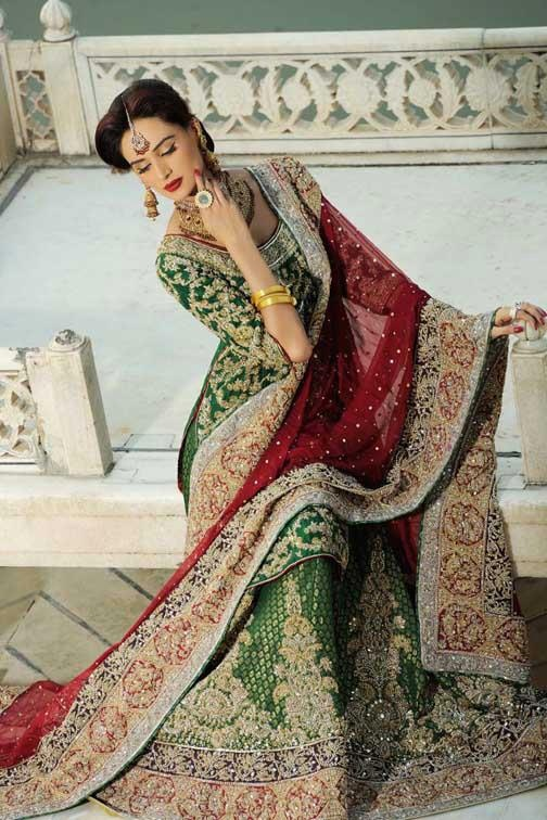 Latest Styles & Designs of Bridal Walima Dresses Collection 2015-2016 (9)