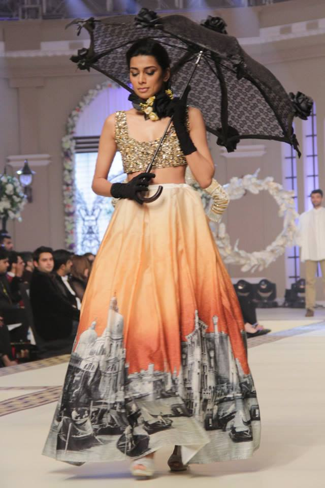 Maria B. La Roseraie (The Rose Garden) Modern Dresses Collection 2015 at Telenor Bridal Couture Week 2014-2015 (15)