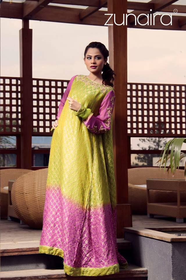 Pakistani Party Wear Dresses by Zunaira Lounge Formal Dresses Collection 2015-16 for Women (11)