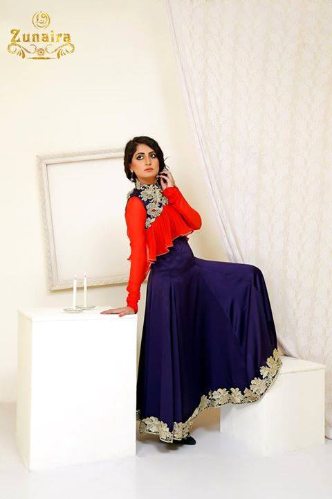 Pakistani Party Wear Dresses by Zunaira Lounge Formal Dresses Collection 2015-16 for Women (23)