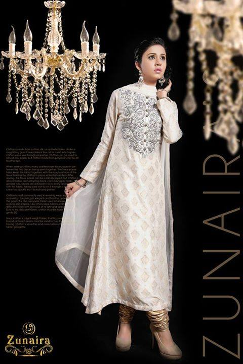 Pakistani Party Wear Dresses by Zunaira Lounge Formal Dresses Collection 2015-16 for Women (2)