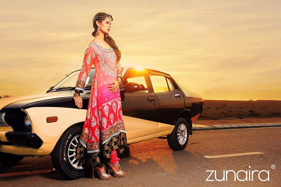 Pakistani Party Wear Dresses by Zunaira Lounge Formal Dresses Collection 2015-16 for Women (3)