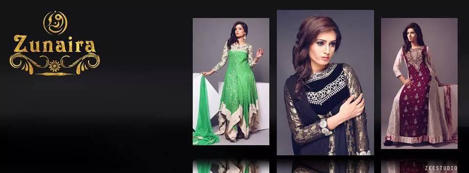 29fd11833 Pakistani Party Wear Dresses Frocks 2019 by Zunaira Lounge ...