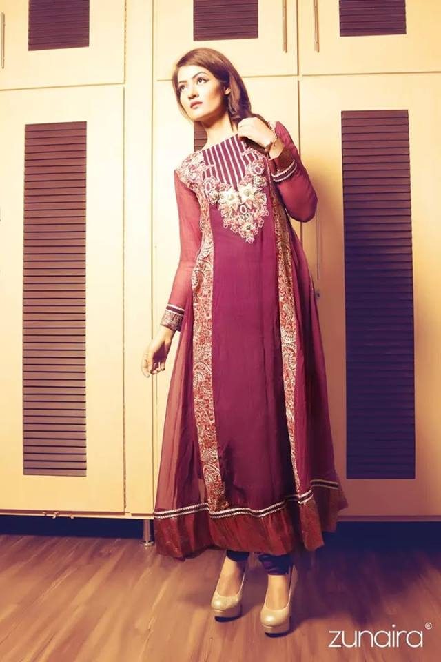 Pakistani Party Wear Dresses by Zunaira Lounge Formal Dresses Collection 2015-16 for Women (6)
