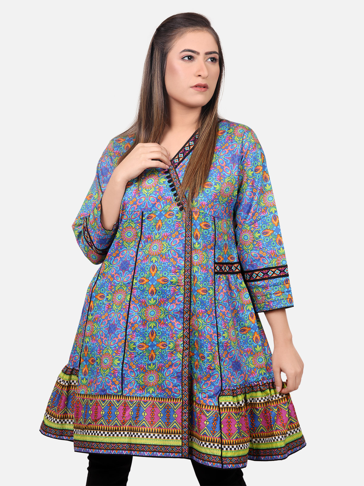 Stylish Funky Women Summer Casual Tops Kurtis 20 Trends
