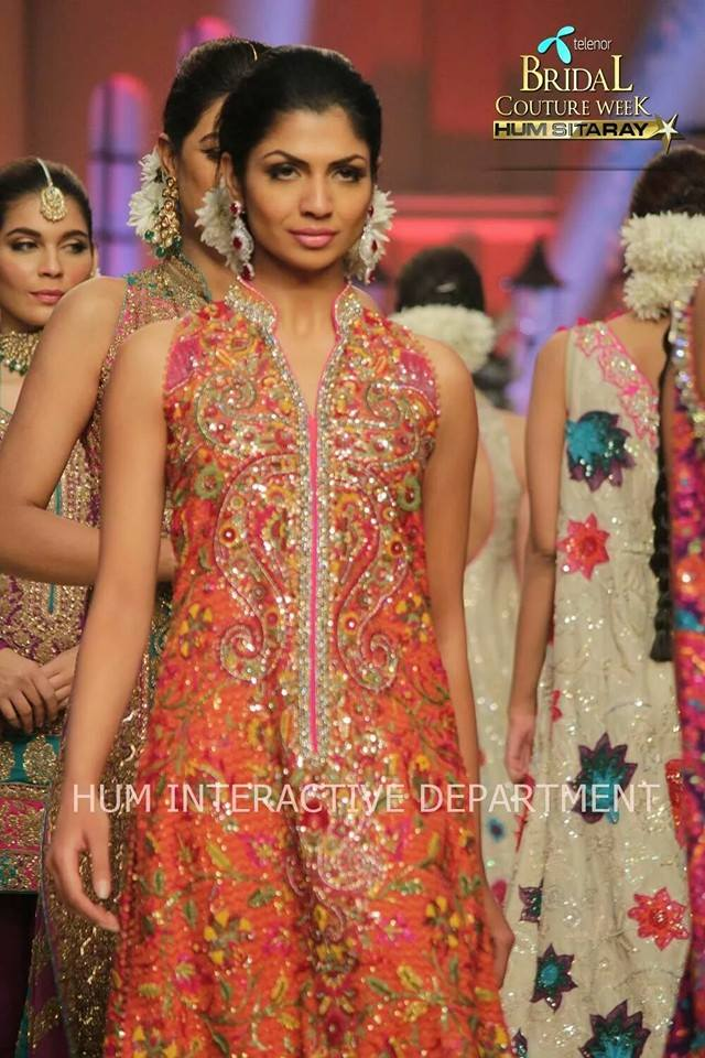 Umer Sayeed Bridal Collection,Telenor Bridal Couture Week 2014-2015  Famous Pakistani Designer Wedding Collections (14)
