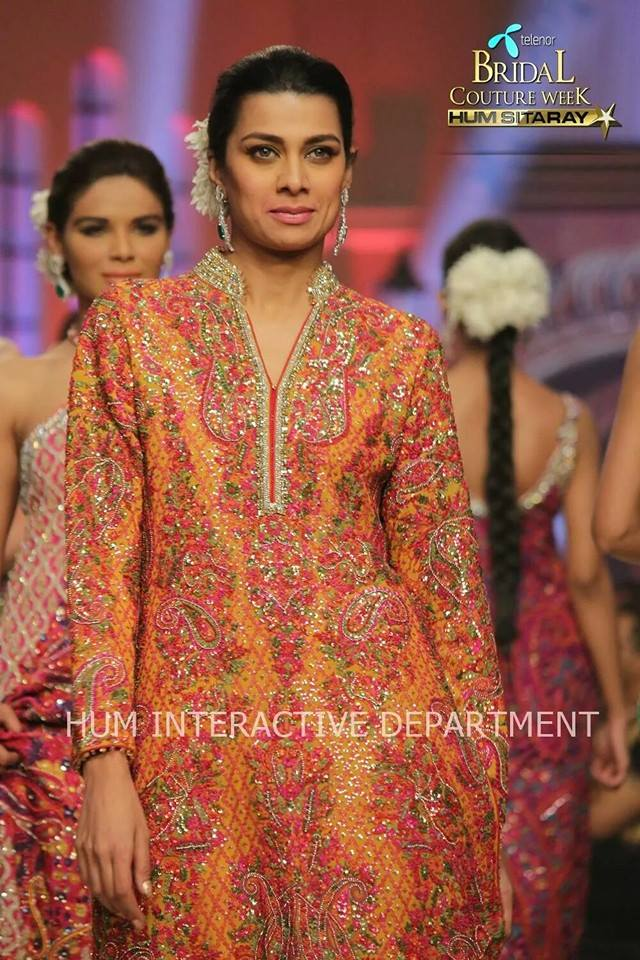 Umer Sayeed Bridal Collection,Telenor Bridal Couture Week 2014-2015  Famous Pakistani Designer Wedding Collections (15)