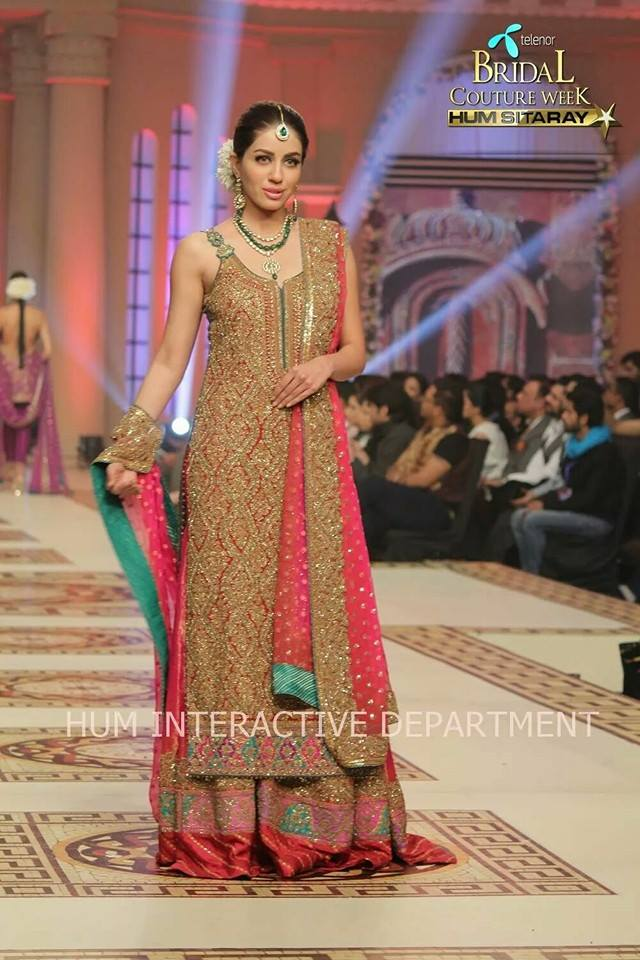 Umer Sayeed Bridal Collection,Telenor Bridal Couture Week 2014-2015  Famous Pakistani Designer Wedding Collections (18)