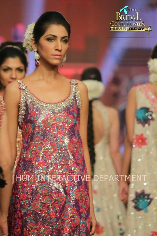Umer Sayeed Bridal Collection,Telenor Bridal Couture Week 2014-2015  Famous Pakistani Designer Wedding Collections (19)