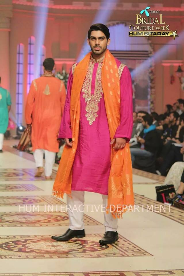 Umer Sayeed Bridal Collection,Telenor Bridal Couture Week 2014-2015  Famous Pakistani Designer Wedding Collections (20)