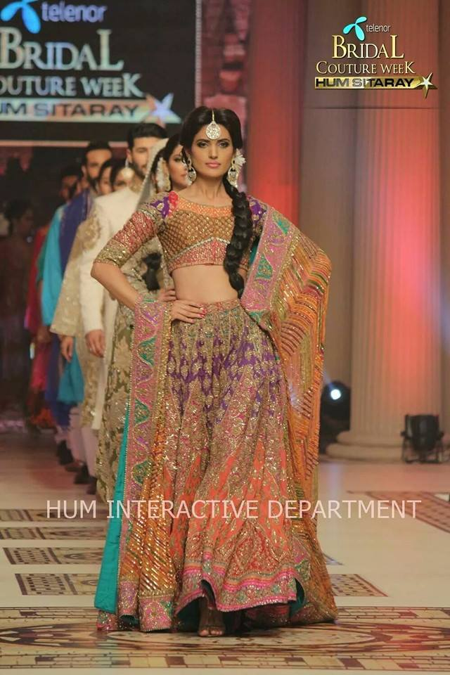 Umer Sayeed Bridal Collection,Telenor Bridal Couture Week 2014-2015  Famous Pakistani Designer Wedding Collections (23)