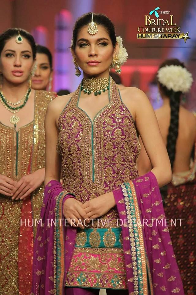 Umer Sayeed Bridal Collection,Telenor Bridal Couture Week 2014-2015  Famous Pakistani Designer Wedding Collections (24)