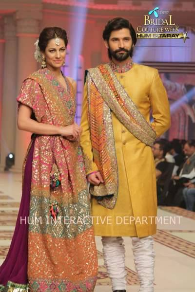 Umer Sayeed Bridal Collection,Telenor Bridal Couture Week 2014-2015  Famous Pakistani Designer Wedding Collections (36)