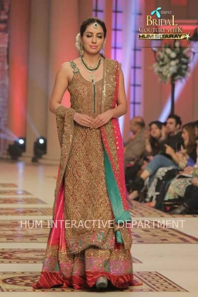 Umer Sayeed Bridal Collection,Telenor Bridal Couture Week 2014-2015  Famous Pakistani Designer Wedding Collections (38)