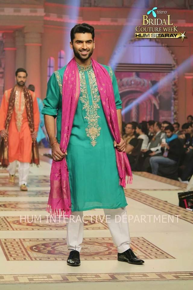 Umer Sayeed Bridal Collection,Telenor Bridal Couture Week 2014-2015  Famous Pakistani Designer Wedding Collections (44)
