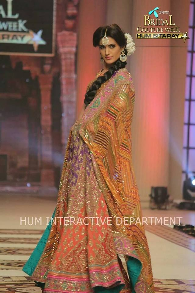Umer Sayeed Bridal Collection,Telenor Bridal Couture Week 2014-2015  Famous Pakistani Designer Wedding Collections (6)