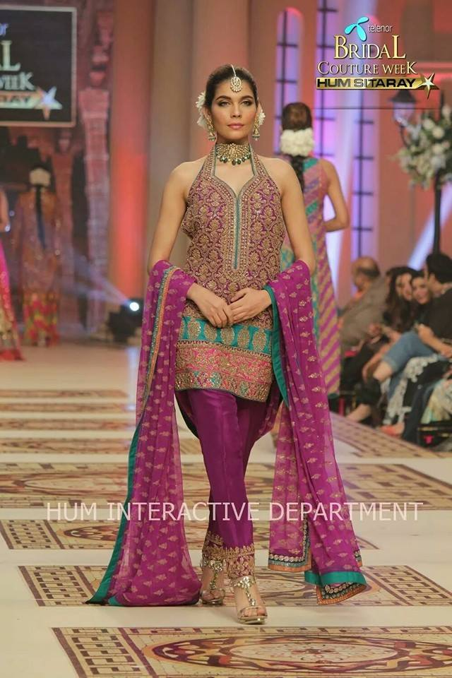 Umer Sayeed Bridal Collection,Telenor Bridal Couture Week 2014-2015  Famous Pakistani Designer Wedding Collections (7)