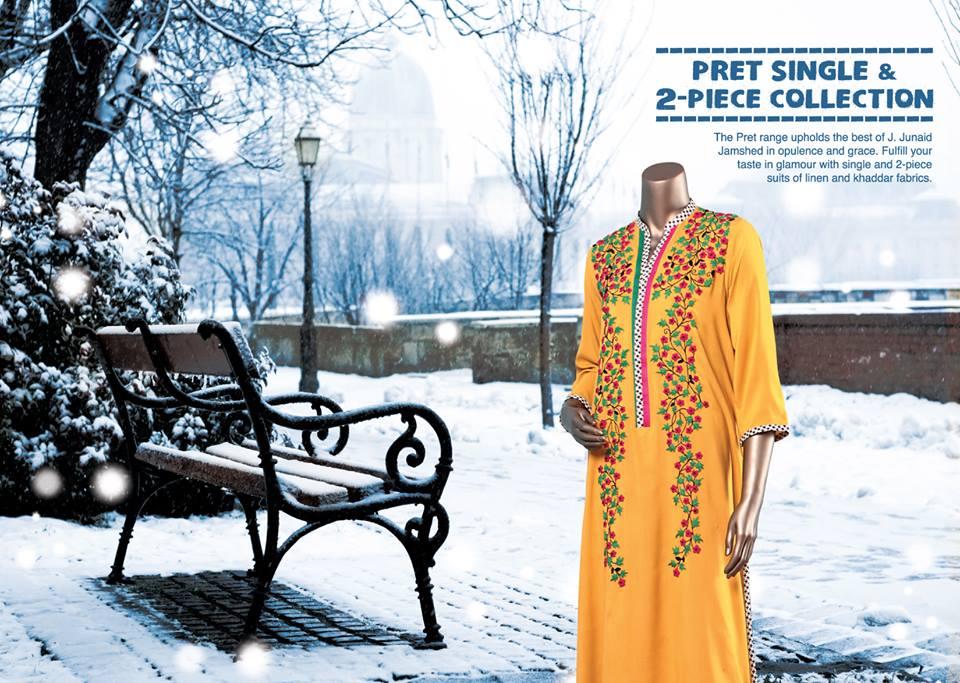 J. Junaid Jamshed Latest Pret Wear Fancy Dresses Collection for Women 2015-2016 (16)