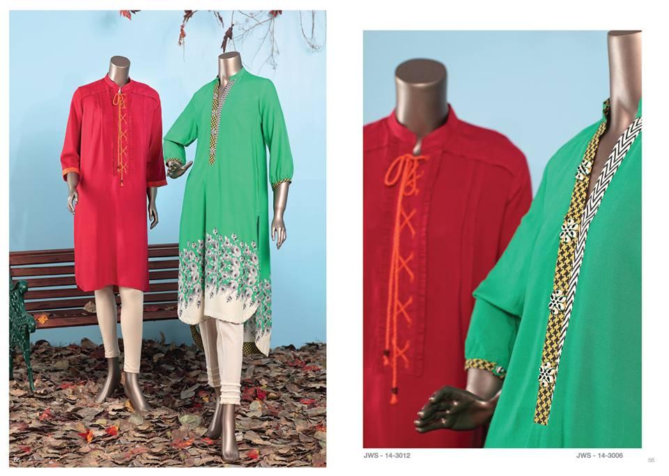 J. Junaid Jamshed Latest Pret Wear Fancy Dresses Collection for Women 2015-2016 (2)