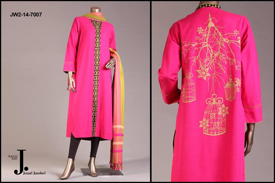 J. Junaid Jamshed Latest Pret Wear Fancy Dresses Collection for Women 2015-2016 (3)