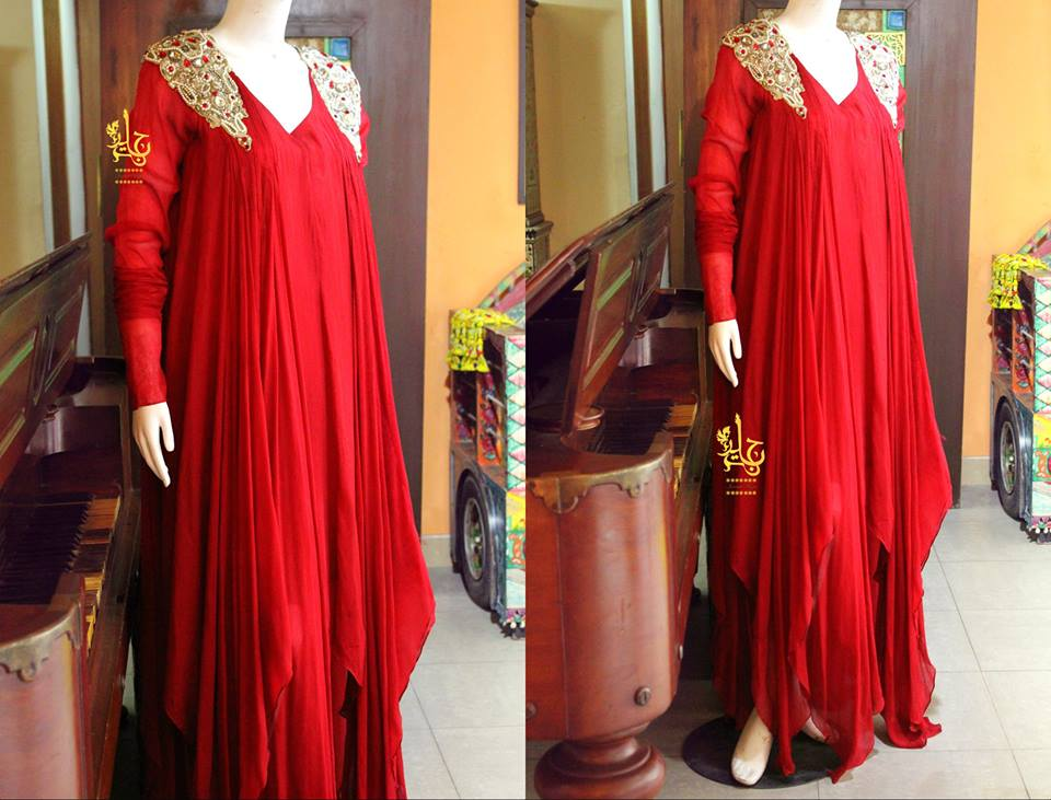 Latest Collection of Air Line Frock Dresses designs & shirts styles for Women 2015-2016 (26)
