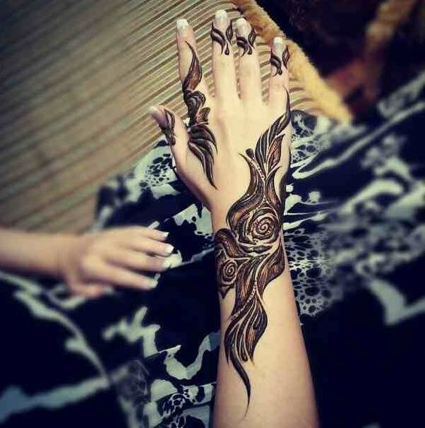 Stylish & Trendy Arabic Mehandi Designs Collection for Hands & Feet 2015-2016 (24)
