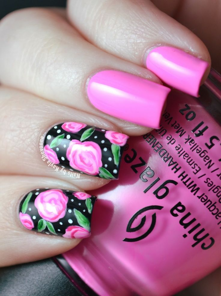 romantic nail art designsBest & Beautiful Nail Art Designs & Ideas to Spice up your Valentines Day Floral Nail Arts (7) - Copy