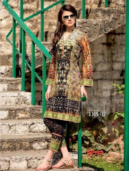 5 Star Textiles Summer Lawn Chiffon Dresses Digital Printed Collection 2015 (1)