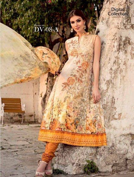 5 Star Textiles Summer Lawn Chiffon Dresses Digital Printed Collection 2015 (11)