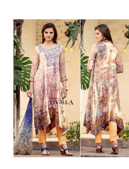 5 Star Textiles Summer Lawn Chiffon Dresses Digital Printed Collection 2015 (15)