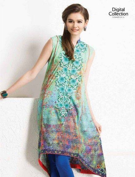5 Star Textiles Summer Lawn Chiffon Dresses Digital Printed Collection 2015 (16)