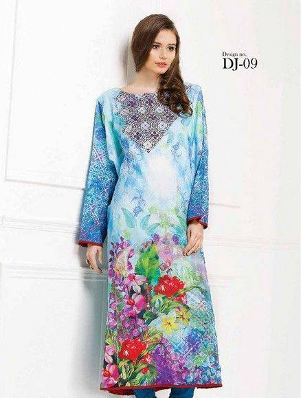 5 Star Textiles Summer Lawn Chiffon Dresses Digital Printed Collection 2015 (18)