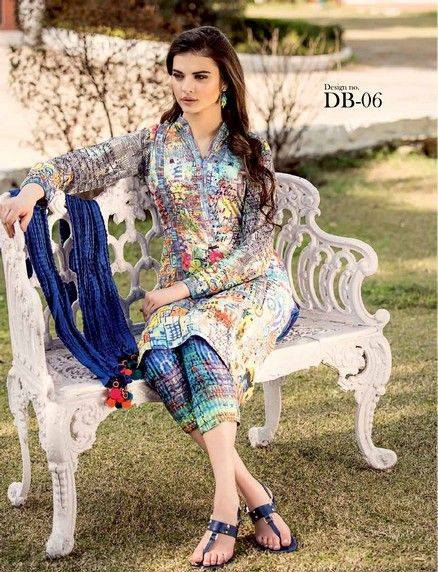 5 Star Textiles Summer Lawn Chiffon Dresses Digital Printed Collection 2015 (19)