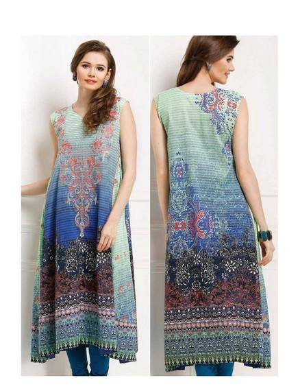 5 Star Textiles Summer Lawn Chiffon Dresses Digital Printed Collection 2015 (2)