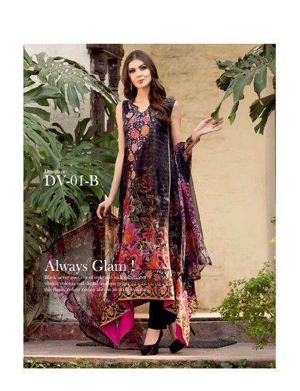 5 Star Textiles Summer Lawn Chiffon Dresses Digital Printed Collection 2015 (21)