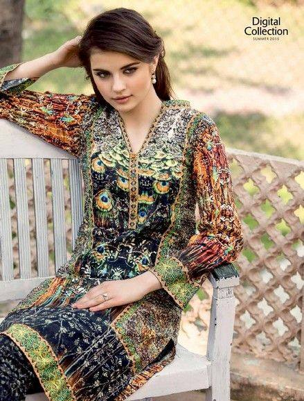 5 Star Textiles Summer Lawn Chiffon Dresses Digital Printed Collection 2015 (23)