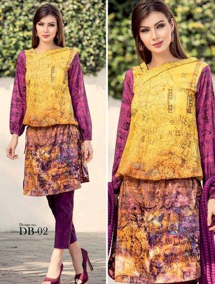 5 Star Textiles Summer Lawn Chiffon Dresses Digital Printed Collection 2015 (25)