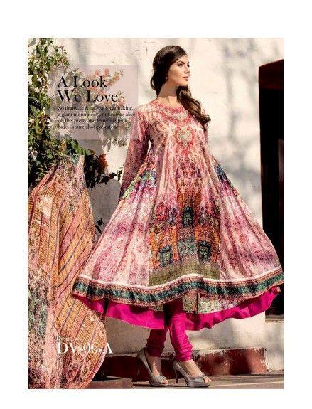 5 Star Textiles Summer Lawn Chiffon Dresses Digital Printed Collection 2015 (27)