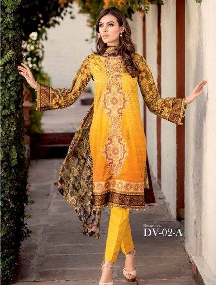5 Star Textiles Summer Lawn Chiffon Dresses Digital Printed Collection 2015 (28)