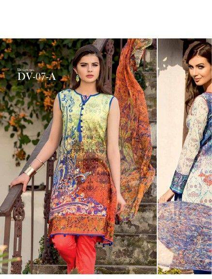5 Star Textiles Summer Lawn Chiffon Dresses Digital Printed Collection 2015 (29)