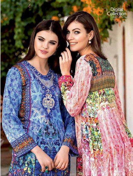 5 Star Textiles Summer Lawn Chiffon Dresses Digital Printed Collection 2015 (31)