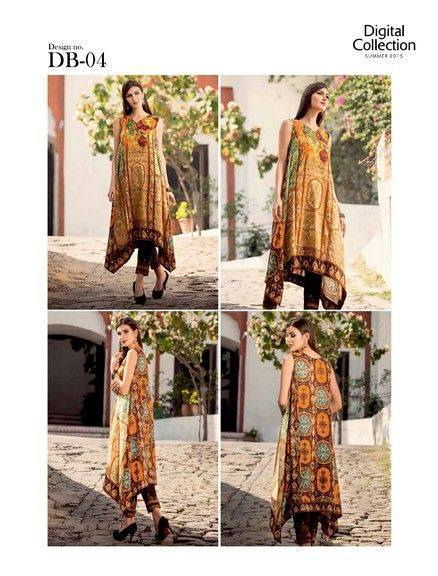 5 Star Textiles Summer Lawn Chiffon Dresses Digital Printed Collection 2015 (32)