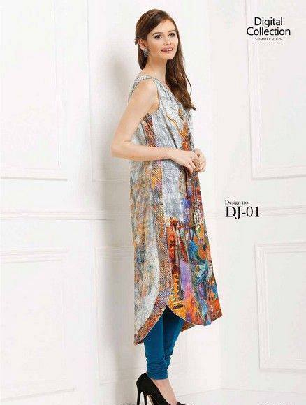 5 Star Textiles Summer Lawn Chiffon Dresses Digital Printed Collection 2015 (33)