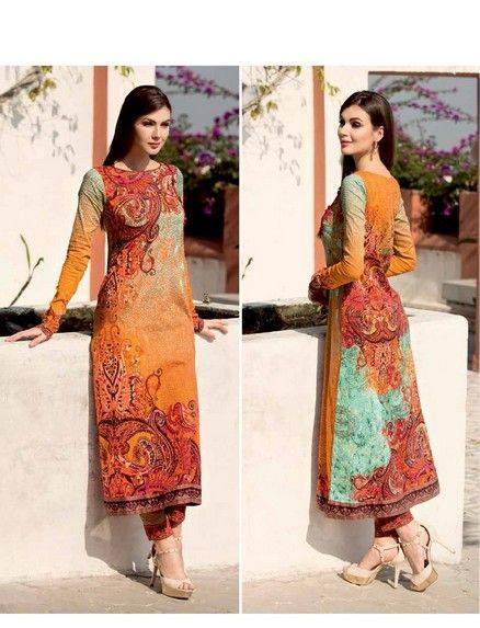 5 Star Textiles Summer Lawn Chiffon Dresses Digital Printed Collection 2015 (34)