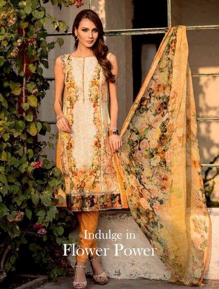 5 Star Textiles Summer Lawn Chiffon Dresses Digital Printed Collection 2015 (8)