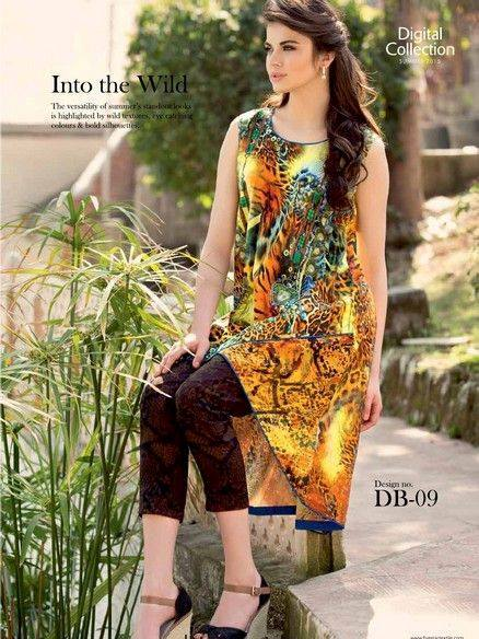 5 Star Textiles Summer Lawn Chiffon Dresses Digital Printed Collection 2015 (9)