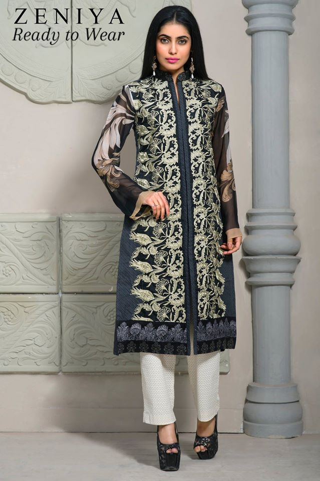 Zeniya Lawn By Deepak Perwani Latest Spring Summer Collection Ready To Wear Dresses 2015 (1)