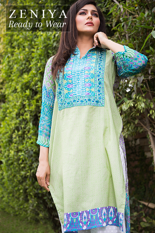 Zeniya Lawn By Deepak Perwani Latest Spring Summer Collection Ready To Wear Dresses 2015 (10)