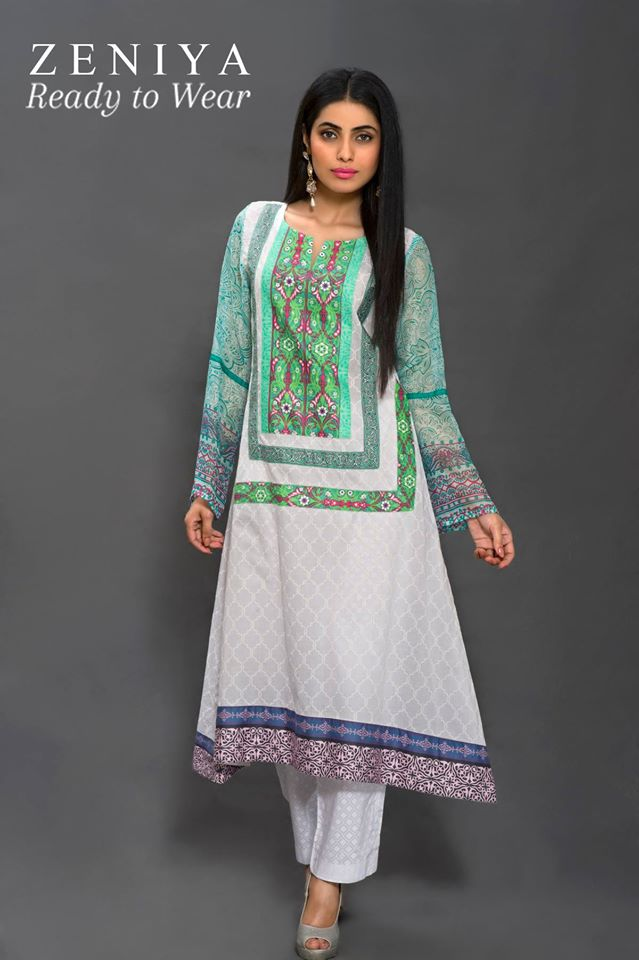Zeniya Lawn By Deepak Perwani Latest Spring Summer Collection Ready To Wear Dresses 2015 (2)